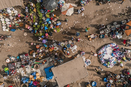 aerial view of traditional city market