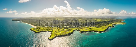 panoramic aerial view of a paradise