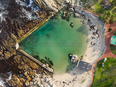 aerial view of camps bay tidal