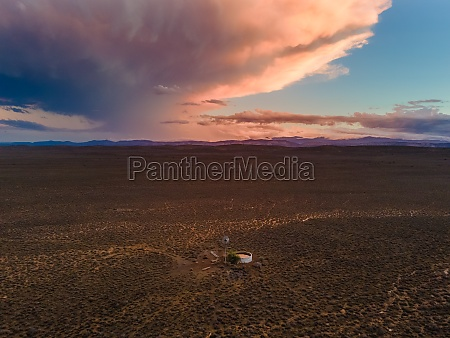 aerial view of karoo windmill and