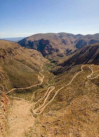 panoramic aerial view of swartberg pass