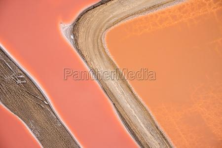 aerial view of swakopmund salt pan