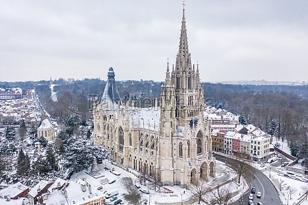 aerial view of the church of