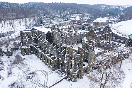 aerial view of chapel saint bernard