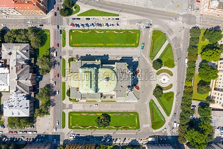 aerial view of the national