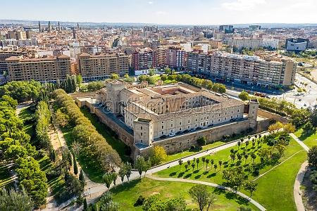 aerial view of palacio de la