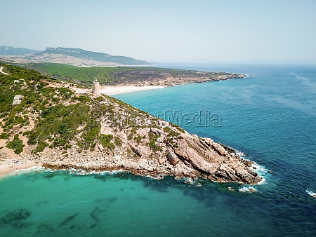 aerial view of the lighthouse on