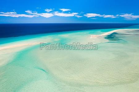 aerial view of sotavento beach lagoon