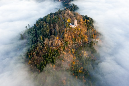 panoramic aerial view of the castle
