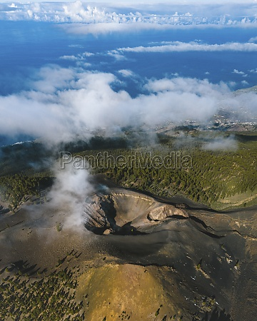 aerial view of duraznero volcano in