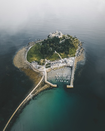aerial view of st michael castle