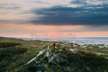 aerial view on the island terschelling