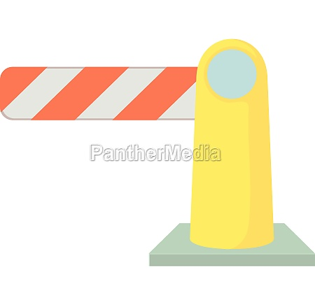 barrier icon cartoon style