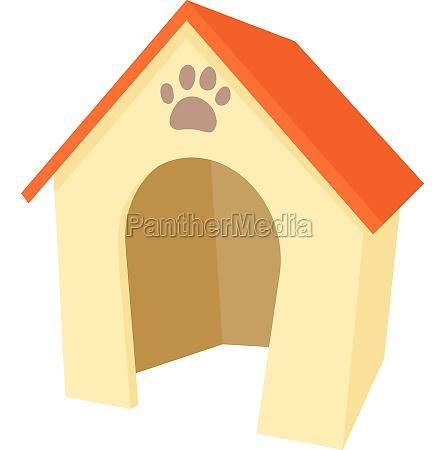 dog house icon cartoon style