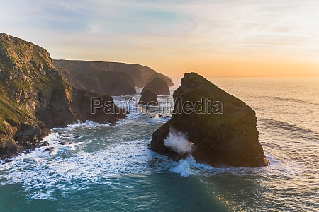 aerial view of pentire steps at