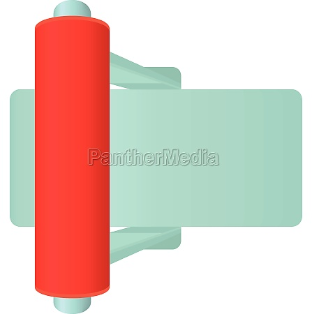 red toggle switch icon cartoon style