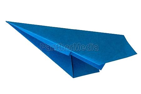 blue paper aircraft
