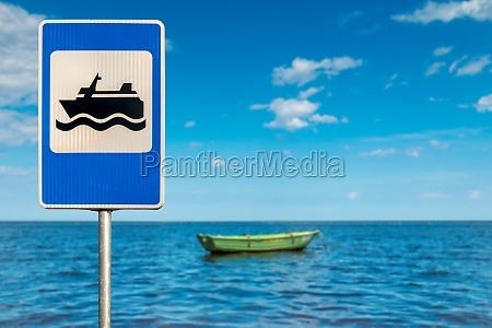 signpost for boating