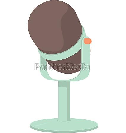 retro microphone icon cartoon style