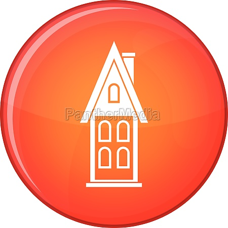 two storey house with attic icon