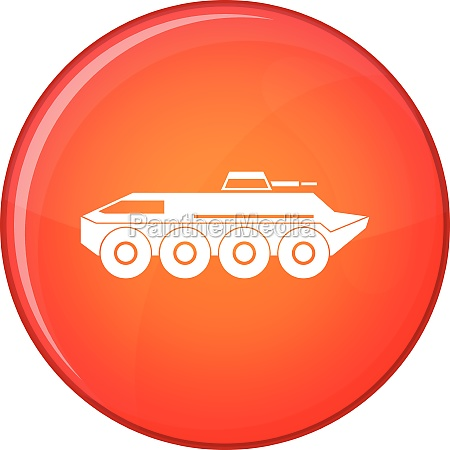 armored personnel carrier icon flat style