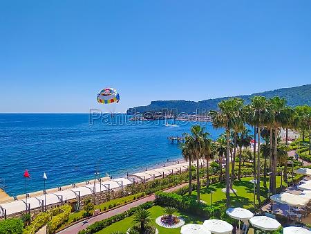 panorama of beach at kemer antalya