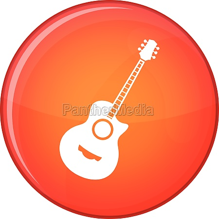 classical guitar icon flat style