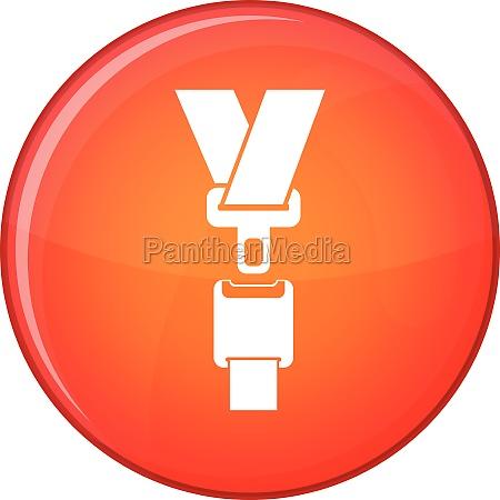 safety belt icon flat style