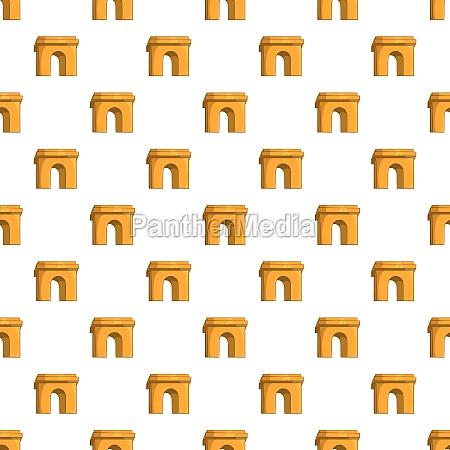 arch pattern cartoon style