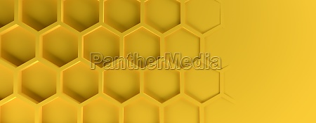 abstract modern yellow homeycomb background
