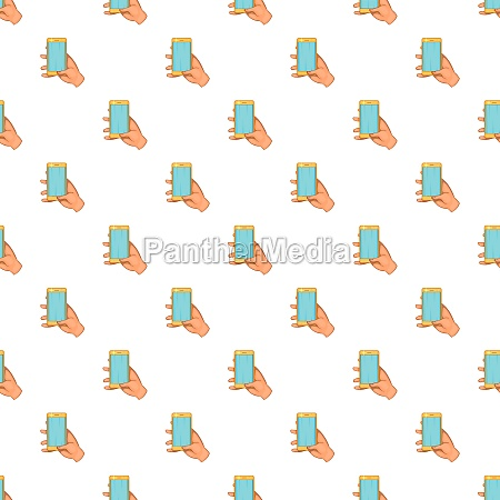 hand works on mobile phone pattern