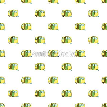 yellow trailer pattern cartoon style