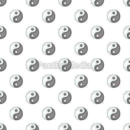 yin yang pattern cartoon style