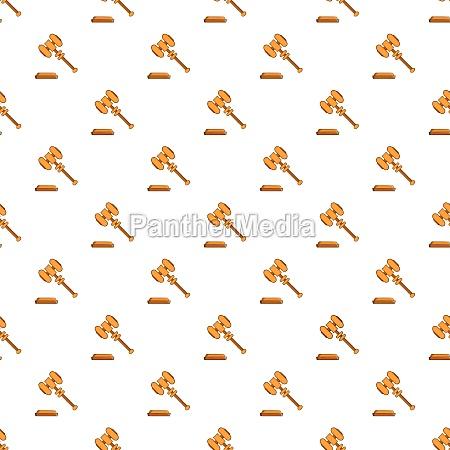 judges gavel pattern cartoon style