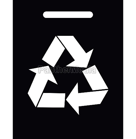 recycling icon simple style