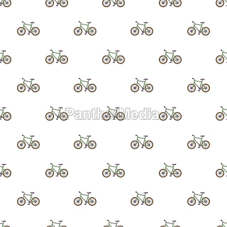 bicycle pattern cartoon style