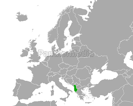 map of albania in europe
