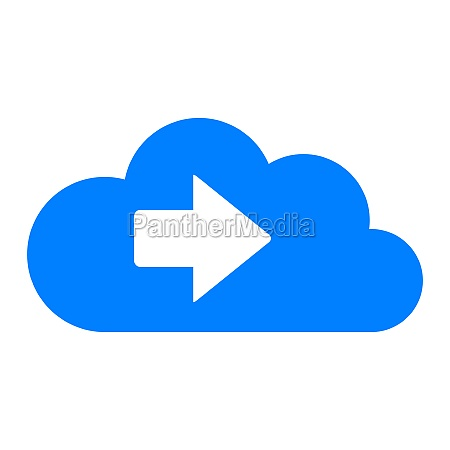 right arrow and cloud