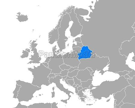 map of belarus in europe