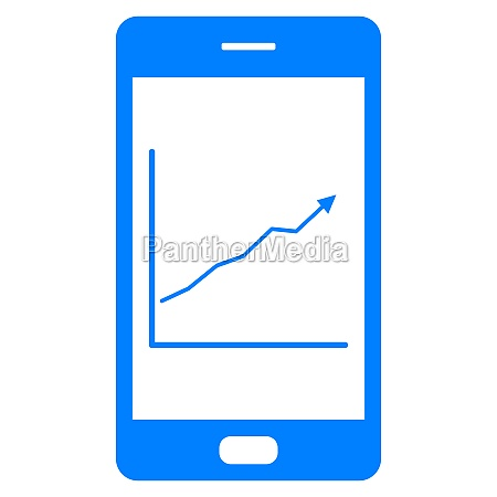 chart and smartphone