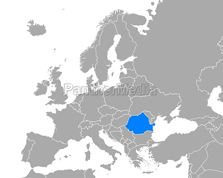map of romania in europe