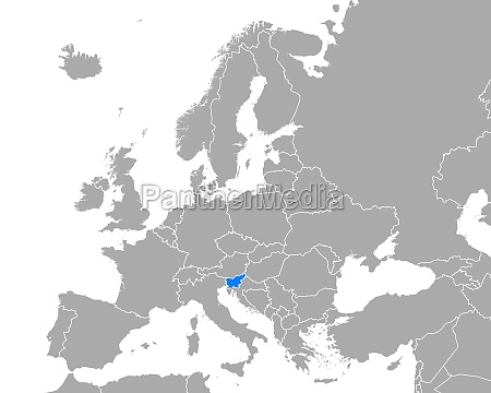 map of slovenia in europe