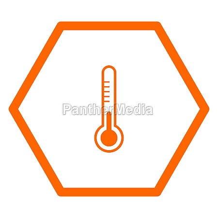 thermometer and hexagon