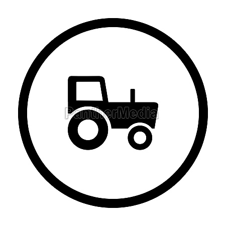 tractor and circle