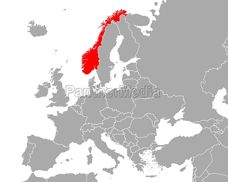 map of norway in europe