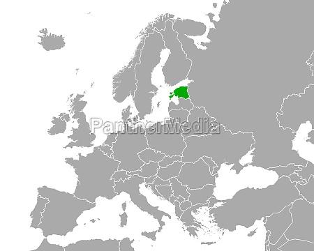 map of estonia in europe