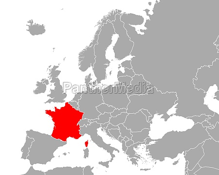 map of france in europe