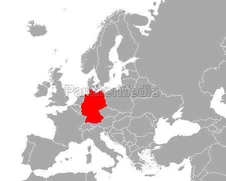 map of germany in europe