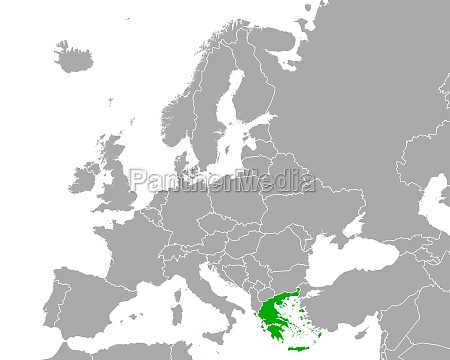 map of greece in europe