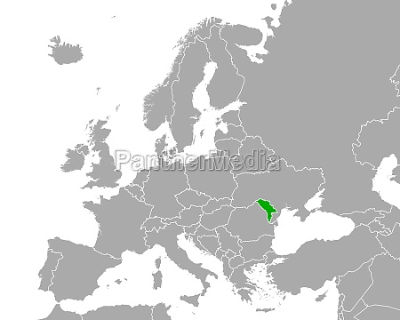 map of moldova in europe